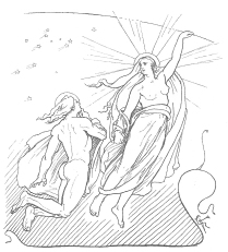 A depiction of Máni and Sól by Dutch artist Lorenz Frølich